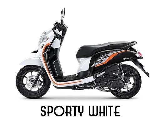 New Honda Scoopy white